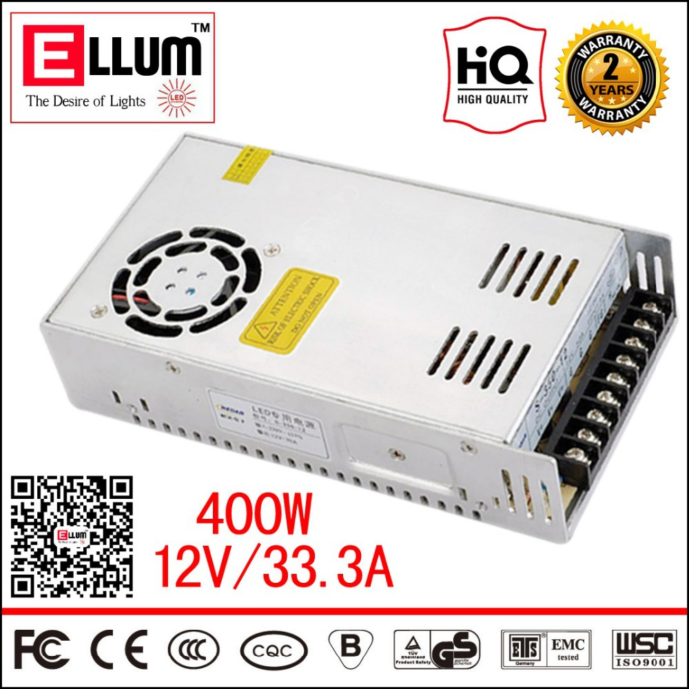 S-400-12 Converter CE ROHS Approval 12V Step Down Electronic LED Transformer AC DC CNC Switching Mode Power Supply 12V 33A 400W(China (Mainland))