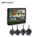 DBPOWER 2 4GHz Wireless 4 Channel Quad CCTV Security System 4 Cameras 7 LCD DVR NVR