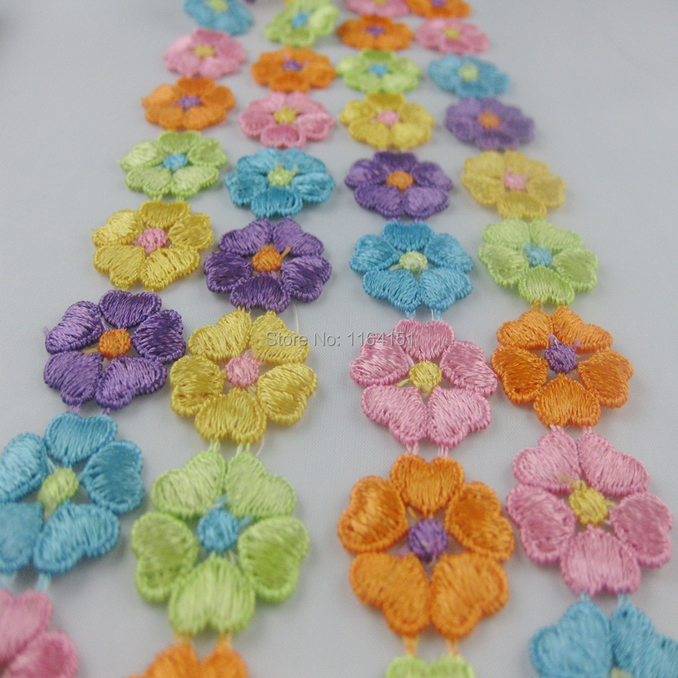 5yard/lot 20*23mm Sewing Lace Material water soluble lace fabric materials kids accessories craft accessories scrapbooking(China (Mainland))