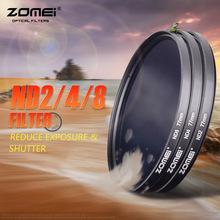 Buy Zomei 77mm Slim Neutral Density Filter ND 2 4 8 nd filter Set Canon Nikon Olympus Sony Pentax Fujifilm Hoya Dslr Camera Lens for $14.00 in AliExpress store