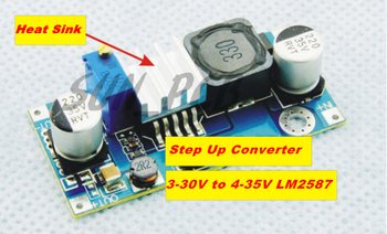 Free shipping DC-DC Step Up Converter 3-30V to 4-35V LM2587 With Heat Sink Step-Up Voltage Adjustable DC Boost Converters