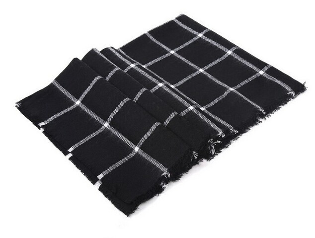 2015 za Scarf Women Tartan scarves Tartan Plaid Scarf Beige Cozy Checked Blanket Oversized Wrap Shawl