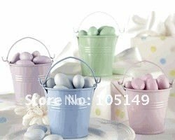 Fres Shipping To USA,CANADA Wedding favors Wedding Tin boxes Tin Favor Pails 75PCS/LOT(8 colors available) Hot Sale