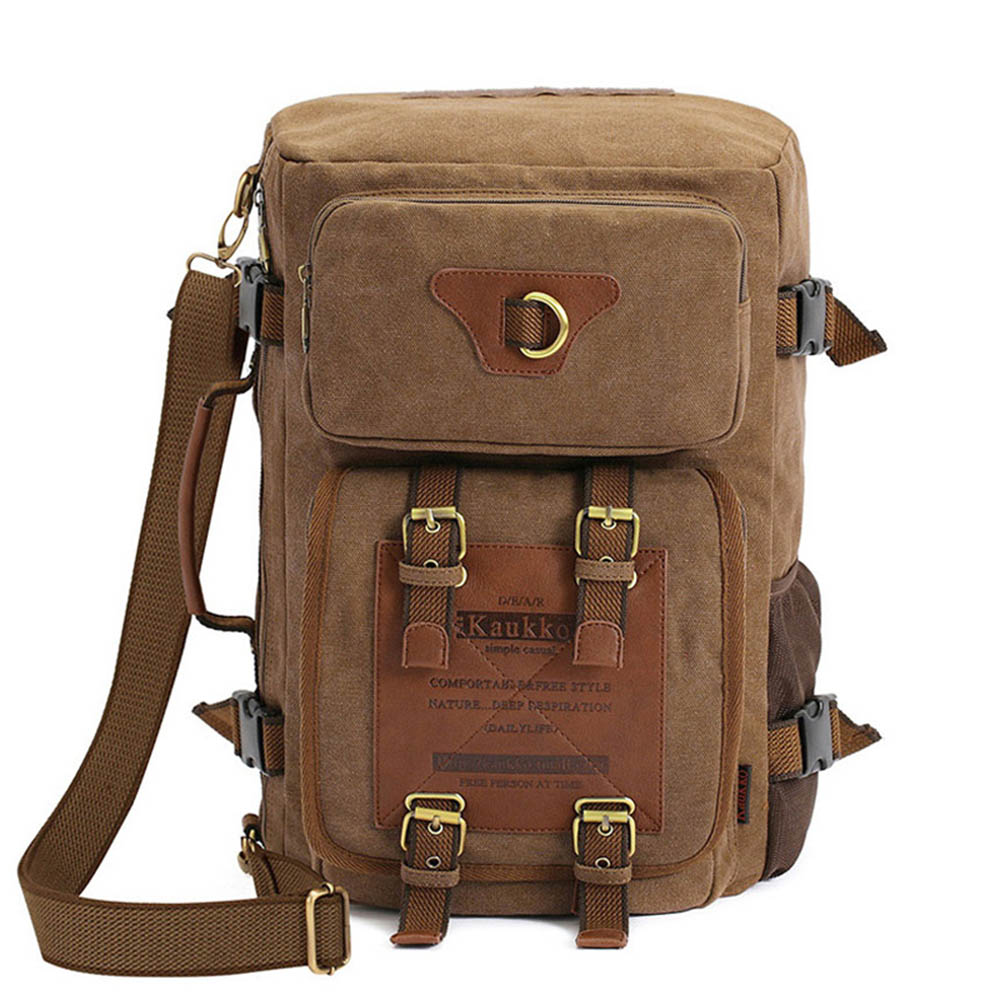 Vintage Rucksack Canvas Luggage Travel Hiking Backpack Duffel Bag for Men and Women Hiking Travel Gym Climbing Camping Sports(China (Mainland))