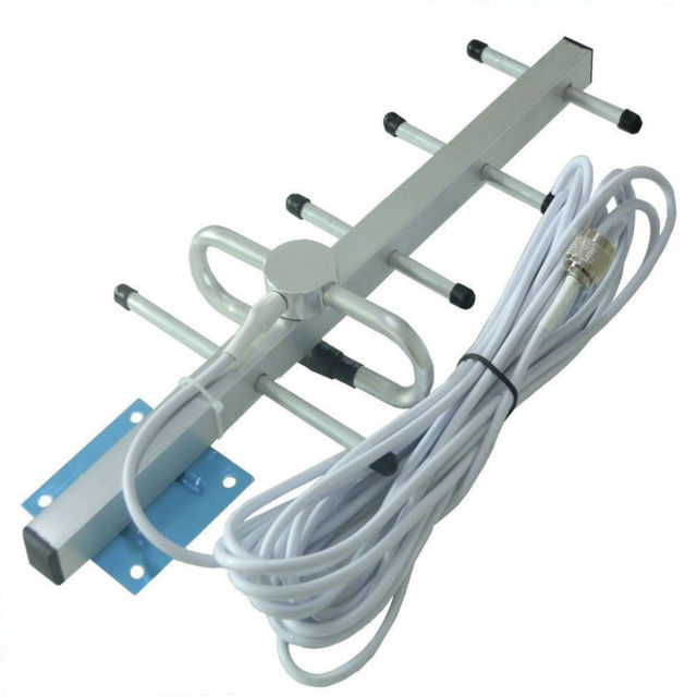External Directional GSM Yagi Antenna 800-900MHz + 10 Meters Black Cable Work with 3G AWS Cell Phone Booster