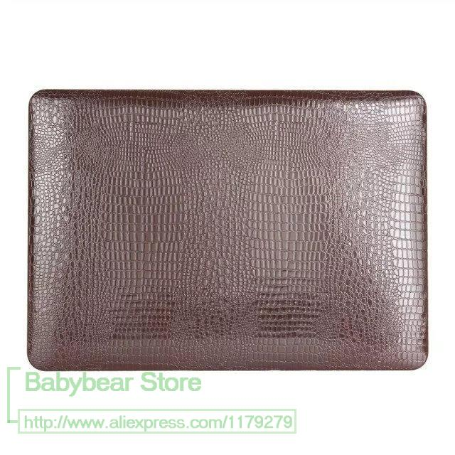 For Macbook Air 13'' Crocodile PU Leather case cover Fashion Laptop bag for Macbook Air 13 A1466(China (Mainland))