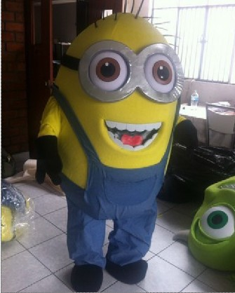 2014 new two Eye Despicable Me Minion mascot costume party costumes fancy animal character mascot dress amusement park outfitОдежда и ак�е��уары<br><br><br>Aliexpress