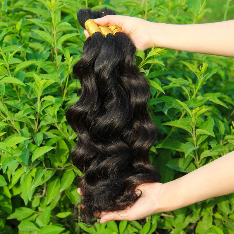 1KG Human Braiding Hair Bulk no weft Human Hair Bulk for Braiding Human Hair for Braiding Bulk Body Wave Brazilian Hair Bulk