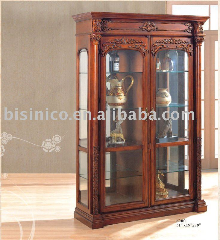 wood glass cabinets 2