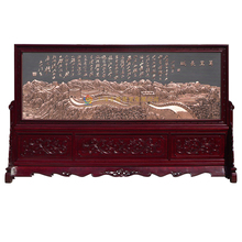 Backdrop decorative painting / wall / copper relief painting / opening gifts housewarming gift ornaments Great Wall(China (Mainland))
