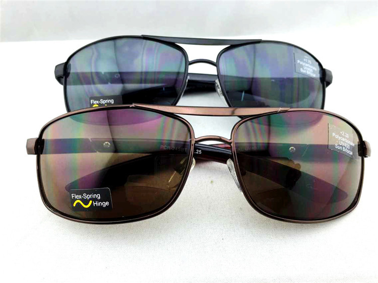 UV400 Sun Readers Flex Spring Hinge Bifocal Sunglasses Strength +1.2