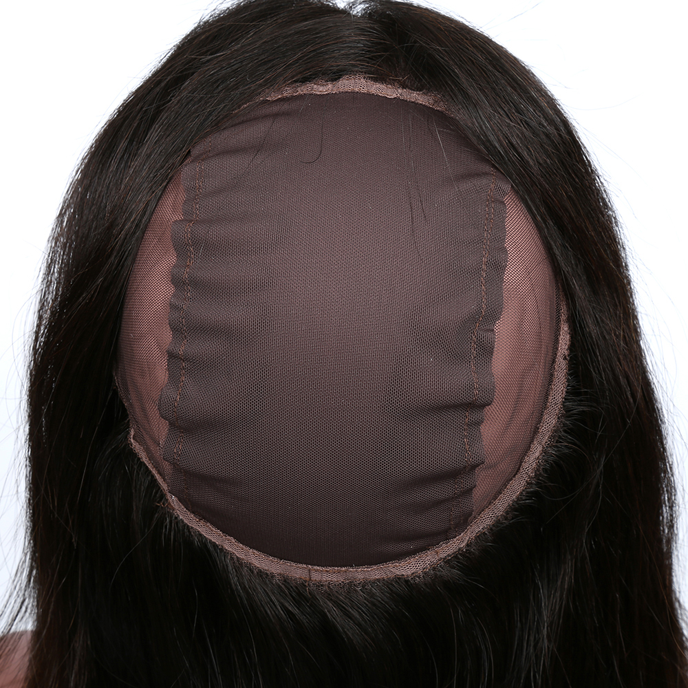 XBL Hair 360 Lace Frontal with Wig Cap Straight Peruvian Human Hair 100% Human Hair Remy 12-20″ Free Shipping