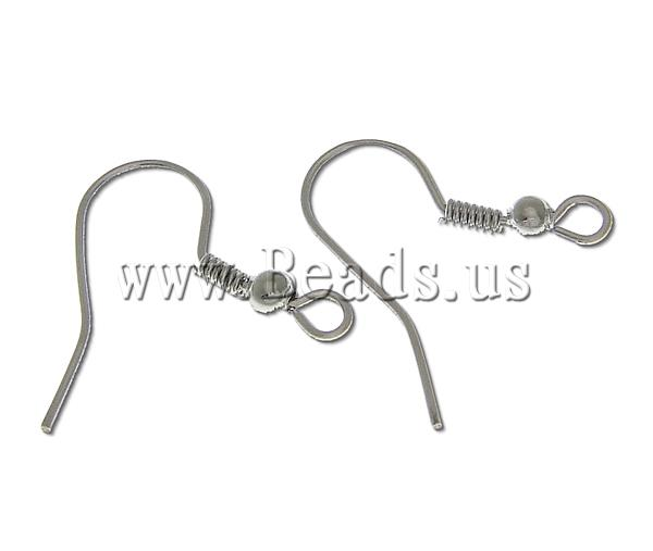 Free shipping!!!Brass Hook Earwire,Jewelry Making, platinum color plated, nickel, lead &amp; cadmium free, 7.70x18.20x0.70mm<br><br>Aliexpress