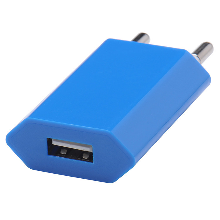 Universal Travel USB charger EU Plug Wall Charger 5V AC USB Power Adapter For Iphone Samsung Xiaomi all smart phones Portable