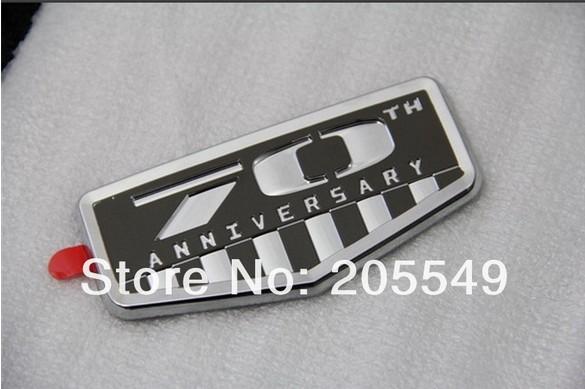 Car sticker 3D Decal Badge Sticker 70th Anniversary Emblem Badge for Jeep Wrangler Cherokee Compass Patriot Liberty 1pc per set(China (Mainland))