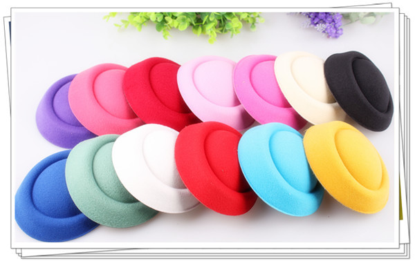 """Free shipping5.2""""(13cm) 13 color mini top fascinator hats/ party hats/glitter hats,DIY hair accessories 24pieces/lot(China (Mainland))"""