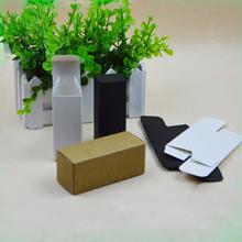 100pcs/lot 1.8*1.8*10.5cm Mini Size kraft Paper Box DIY Lipstick Perfume Essential Oil Bottle Packaging Boxe valve tubes(China (Mainland))