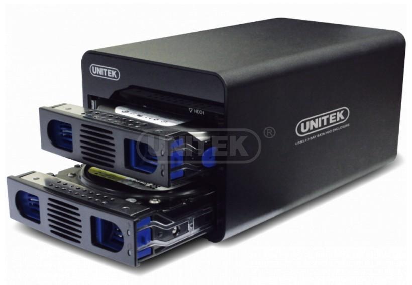 """wholesale USB3.0/eSATA 2 Bay SATA HDD Raid Enclosure,Support 2.5""""or 3.5"""" SATA HDD (Y-3355 )(China (Mainland))"""