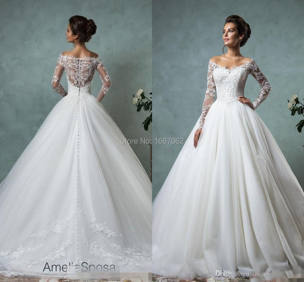 Plus size wedding dresses long sleeve eligent prom dresses for Long sleeve plus size wedding dress