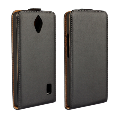 10pcs/lot For Huawei Ascend Y635 Luxury DT Genuine Up And Down Flip Leather Case Back Cover