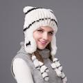 100 Real Rex rabbit hat lovely hats woman 2016 New winter women cap female warm cap