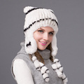 100 Real Rex rabbit hat lovely hats woman 2016 New winter women cap female warm cap