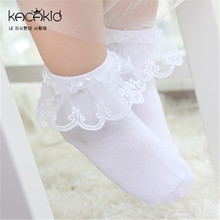 Cotton Newborn Baby Socks for Summer Kacakid 2016 Spring Floor Children's Socks for Newborns calcetines bebe Lace Cute sale
