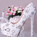 Blingbling full white or ivory pearls colorful rhinestones diamonds 12cm heels party shoes wedding shoes Bridal