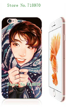 Mobile Phone Cover BTS Bangtan Boys Cartoon Style White Hard Case Cover For Iphone 6 plus/6s Plus Free Shipping