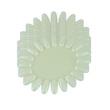 Attractive 10PCS natural white nail art display color chart Nail Polish Display Wheel 20 Tips