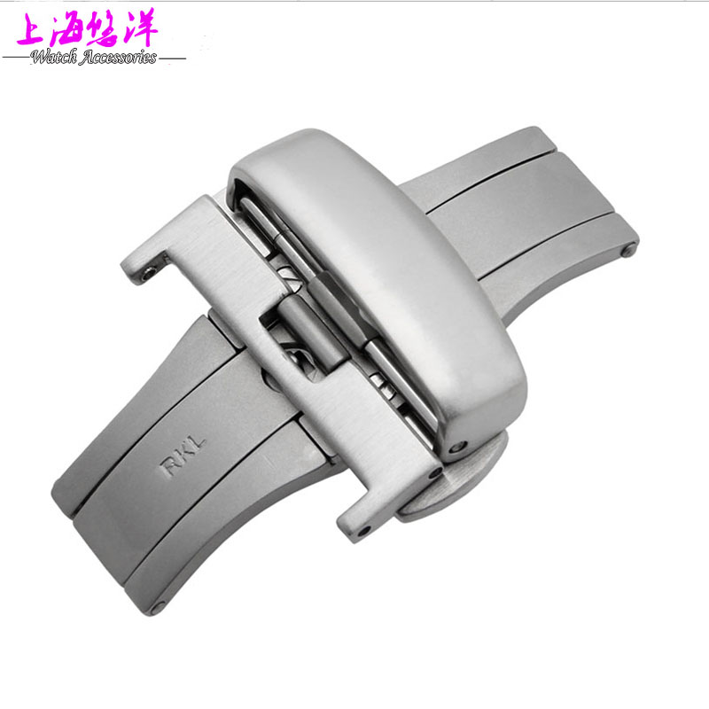 Watch accessories available bookmarks T035|T17 double click the 18|20|22MM butterfly strap buckle(China (Mainland))