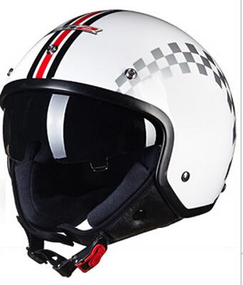 Motorcycle electric car helmet half helmet Harley helmet Four Seasons Summer men /White Alternative(China (Mainland))