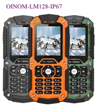 Original OINOM LM128 Quad Band Outdoor Rugged Waterproof Dustproof Shockproof Mobile Phone with Russian Keyboard Factory Price(China (Mainland))