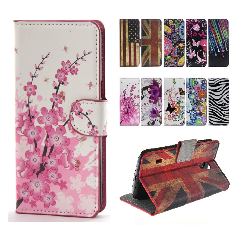 Pattern fresh PU Leather Flip case for Sony Xperia M Dual C1905 Case phone cases Fashion Cover For Sony C1905 Cases With Card(China (Mainland))