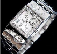 Lujo Top Brand las para mujer de plata y oro Color del brazalete del reloj nombre famoso mira el envío libre