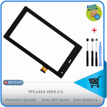 7 inch touch screen,100% New touch panel,Tablet PC touch panel digitizer TPC1463 VER5.0 E touchscreen Free Shipping + diy tools