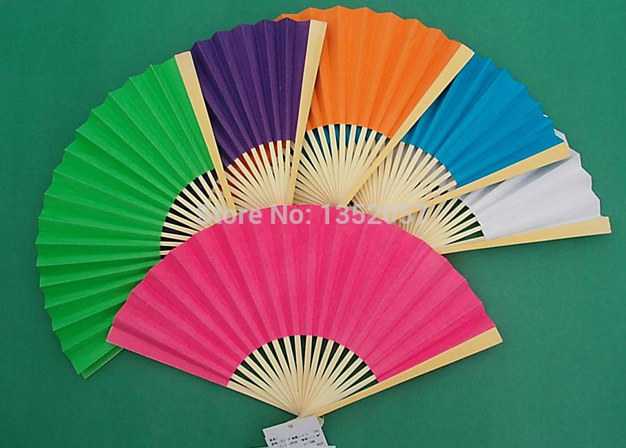 10PCS/lot New Arrived Folding Elegant Paper Hand Fan Wedding&Party Decoration Favors 23cm(China (Mainland))
