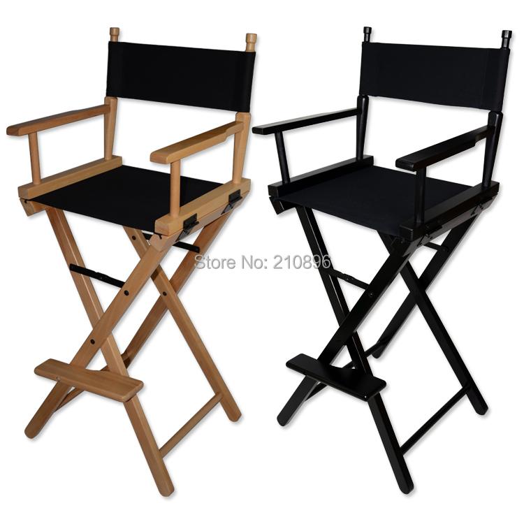 Vouwen aluminium directeur stoel draagbare make up stoel houten stoel zwart en - Smeedijzeren stoel en houten ...
