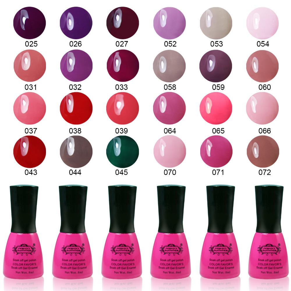 Perfect Summer Gel Nail Polish UV Nail Gel Varnish Long Lasting Up to 30 days Nail Gel 8ML Soak off Gel Lacquer(China (Mainland))