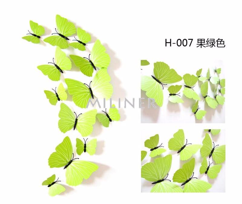 Стикеры для стен 12pcs 3d