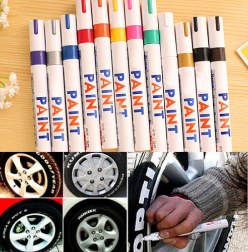 12 Color Indelible Tyre Permanent Paint Graffiti Pen Tire Metal Outdoor Marker Z(China (Mainland))