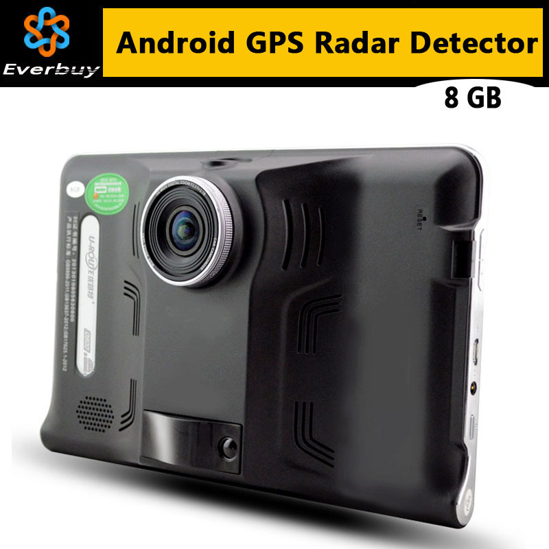 New 7 inch HD Android GPS Navigation Anti Radar Detector Car DVR Camera Recorder Truck vehicle gps Free map tablet pc 8GB