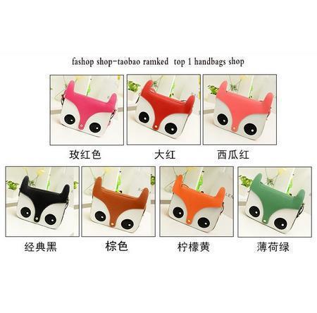 2014 New Rushed Bolsas Women Ladies Retro Shoulder Bag Fashion Messenger Bags Cute School Tote Owl Fox PU Shoulder Handbags(China (Mainland))