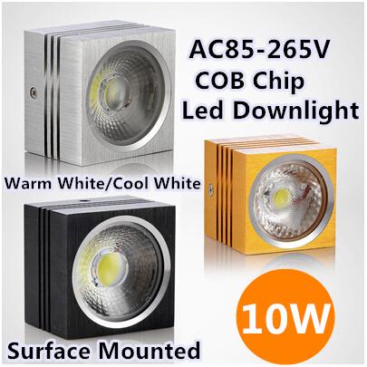 10W 4PCS/lot Wholesale Somany Brand Lighting Lamp Kitchen Fixtures COB Chip(Cree) Sliver,Black,Gold Square Led Downlight Led<br><br>Aliexpress