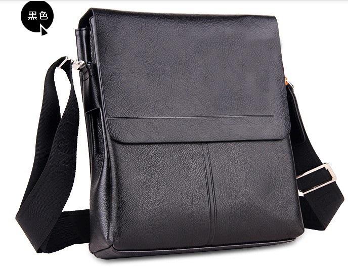 Men's MB Handbag Designer Brand Black/Brown Featured Cowhide soft Genuine leather men shoulder messenger vertical cross-body bag - Top Leather store