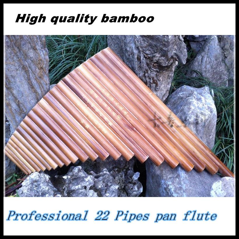 Professional-bamboo-Pan-Flute-22-Pipes-Woodwind-Flauta