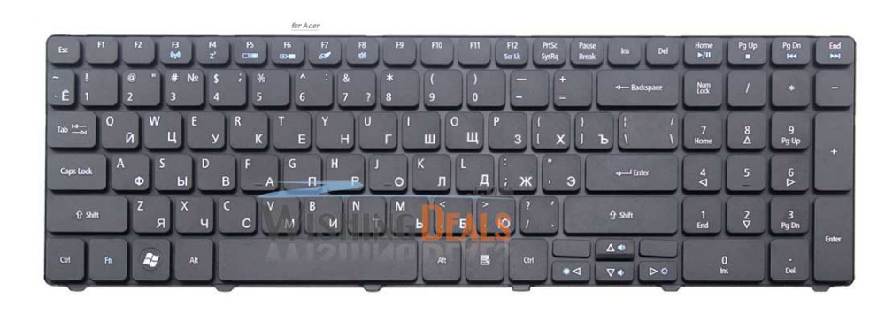 NEW Laptop Keyboard for Acer Aspire 5551 5552 5553 5625 5733 5736 5739 5740 5741 5742 RU Russian black F3 Wireless free shipping(China (Mainland))
