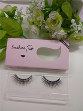 Fashionable Handmade Mink 3D Eyelash Full Strip Eyelashes Extensions With Custom Boxs Natural Long Terrier Fur Mink Hair Eyelash(China (Mainland))