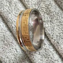 High quality large men women 18k gold sliver Ion plating genuine pure 8mm titanium mens fashion