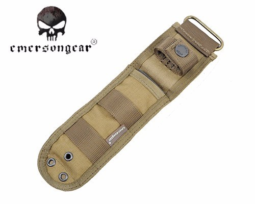 Buy Emerson Nylon Knife Pouch With Anti-cut Plate Inside Durable Protector Molle Waterproof Knife Holster Pouch Hunting Camping cheap
